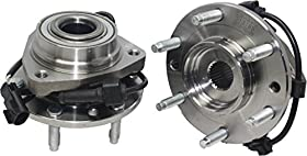 Brand New (Both) Front Wheel Hub And Bearing Assembly Ascender, Bravada, Envoy, Rainer, Trailblazer 6 Lug W/ ABS (Pair) 513188 x2