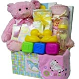 Sweet Baby Care Package Gift Box with Teddy Bear - Pink Girls