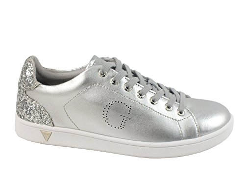 GUESS sneakers donna sportiva glitter PELLE SILVER FLSUP3-SUP12 40