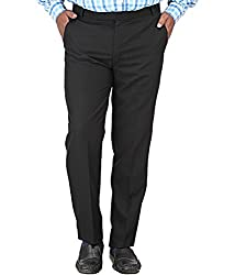 Frankline Men's Trouser (Frankline-37_ Black _36)