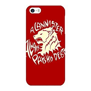 Jugaaduu Game Of Thrones GOT House Stark Back Cover Case For Apple iPhone 5c