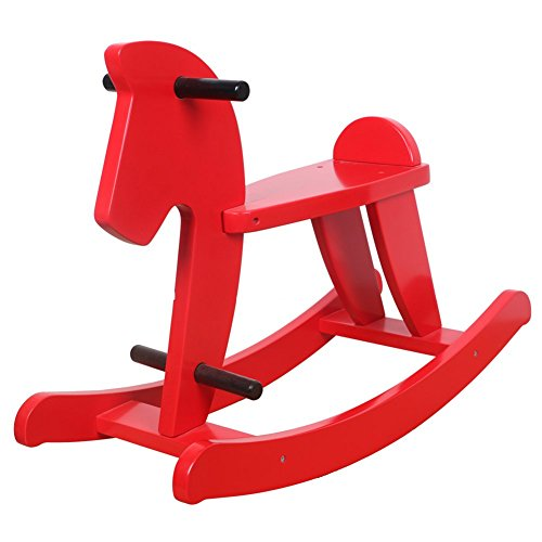 Hessie Kids Classic Rocking Horse - Red front-330951