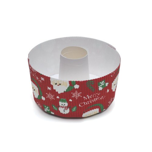 Welcome Home Brands Christmas Tube Pan Santa Small, 4.7-Inch Diameter by 2.4-Inch Height, One Case of 150 Units