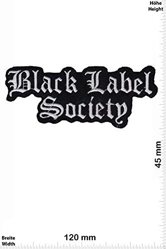 Patch - Black Label Society - silver - BLS - MusicPatch - Rock - Chaleco - toppa - applicazione - Ricamato termo-adesivo - Give Away