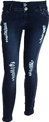 EBONY Women's Slim Jeans (6896_32, Blue, 32)