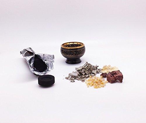 incense-burning-kit-includes-brass-burner-charcoal-white-sage-frankincense-dragons-blood-copel-resin