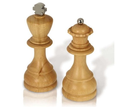 Spinning Hat King and Queen Salt/Pepper Mills