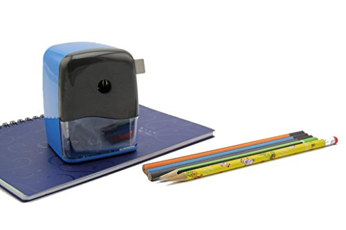 Desert Song Multifunctional Pencil Sharpener Adjustable for Colored Pencils and Normal Pencils, Quiet for Office, Home and School, Blue
