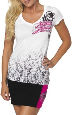 MSR Metal Mulisha Bandwagon Ladies T-Shirt Bandwagon White Medium M 886152960528