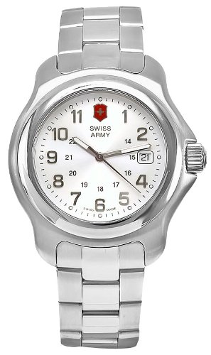 Swiss Army Men's Officer's 1884 Watch - Silver Dial/Stainless Steel Bracelet