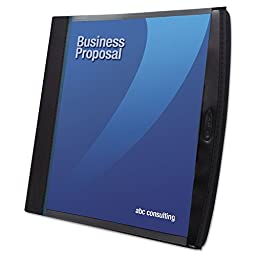 Smart-View Multi-Ring Presentation Book, 12 Letter-Size Sleeves, Black/blue By: Wilson Jones