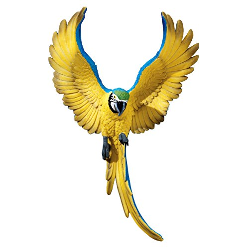 Design Toscano Phineas the Flapping Macaw Bird Wall Sculpture