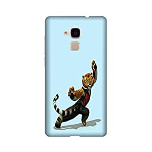Huawei Honor 5C Perfect fit Matte finishing Tigress Kung Fu Panda Movies & TV Series Mobile Backcover designed by Aaranis(Blue)