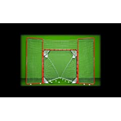 Buy EZGoal Lacrosse Folding Goal with Backstop and Targets, Orange by EZGoal
