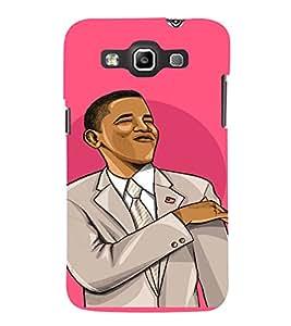 PrintVisa Cool Obama Design 3D Hard Polycarbonate Designer Back Case Cover for Samsung Galaxy Quattro Win i8552