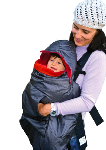 Tivoli Couture Mommy'S Hug Baby Carrier Cover And Wearable Blanket, London Red front-86364