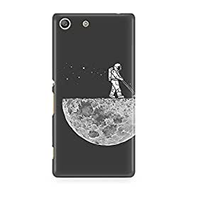 Motivatebox - Sony Xperia M5 Back Cover - Moon Harvesting Polycarbonate 3D Hard case protective back cover. Premium Quality designer Printed 3D Matte finish hard case back cover.