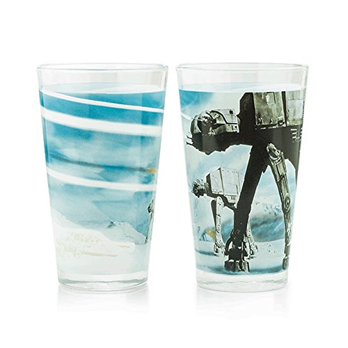 Star Wars Battle of Hoth Pint Glass Set of 2 Glasses