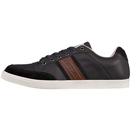 kappa-carmelo-low-sneakers-basses-mixte-adulte-noir-schwarz-1154-black-cognac-42