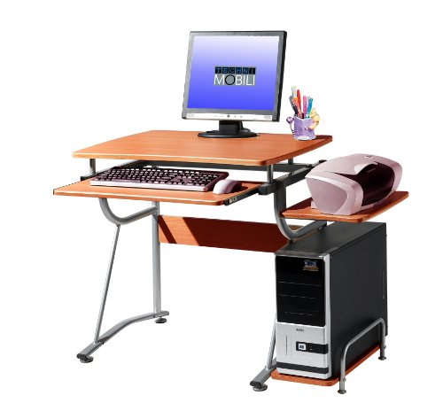 Buy Low Price Comfortable Mad Tech 30x20x43 Cherry Mdf Panel & Steel Frame Computer Office Desk Table (B004W0K66W)