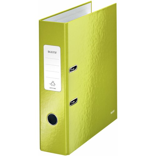 Leitz 180° WOW Lever Arch File - green metallic