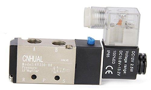Baomain 12V DC Magnetventil Luft Ventil 5 Port 2 Position 4V210-08
