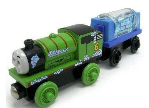 Thomas And Friends Wooden Railway - Percy And The Engine Wash Car