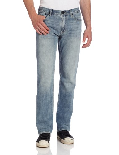 Calvin Klein Jeans Men'S Low-Rise Slim Fit Straight-Leg Serene Jeans, Light Wash, 33X32