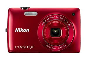 Nikon COOLPIX S4300 16 MP Digital Camera with 6x Zoom NIKKOR Glass Lens and 3-inch Touchscreen LCD (Red)