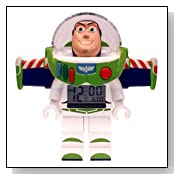 BUZZ LIGHTYEAR Toy Story Lego Figurine Alarm Clock NEW