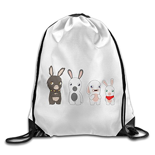 [Bekey Rabbids Invasion Family Training Gymsack For Men & Women For Home Travel Storage Use Gym Traveling Shopping Sport Yoga] (Raptor Costume Runescape)