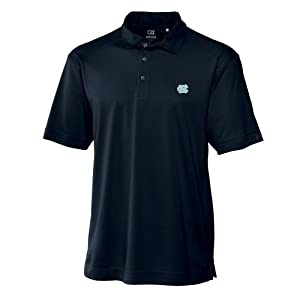 NCAA Mens North Carolina Tar Heels Navy Blue Drytec Genre Polo Tee by Cutter & Buck