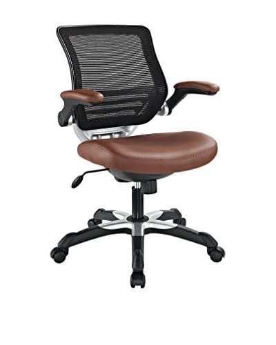 Modway Edge Vinyl Office Chair, Tan