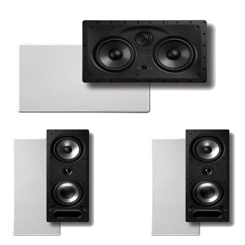 Polk Audio 265Rt 3-Way In-Wall Speakers (Pair) Plus A Polk Audio 255C-Ls Center Channel In-Wall Speaker
