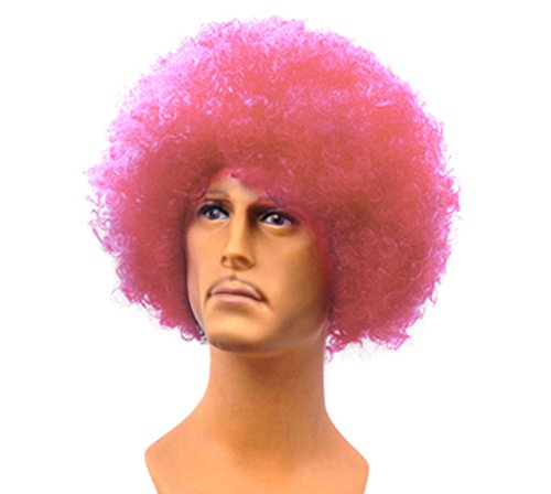 Cool Halloween Entertainment Dance Performances Short Curly Short Hair Wig-Pink