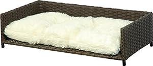 Dobar 93166 lit canap pour chien chat en rotin solide et - Canape pour chien pas cher ...