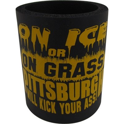 Steelers & Penguins Can Cooler On Ice & Grass - Black from SteelerMania