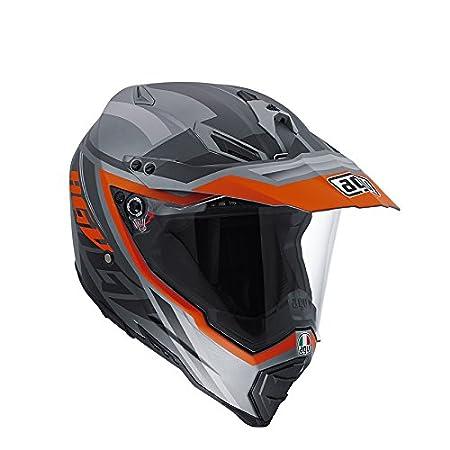 AGV Helmets 7611A2D0_009_L Casque Intégral AX-8 Dual EVO E05, Multicolore (Karakum Noir/Orange), L