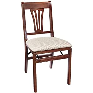 pair of traditional folding chairs home kitchen