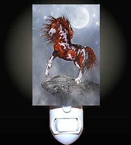 Indian War Horse Decorative Night Light Home