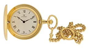 Catorex Men's 115.6.1103.110 La Pautele Automatic White Dial Roman Numerals Gold Plated Brass Pocket Watch