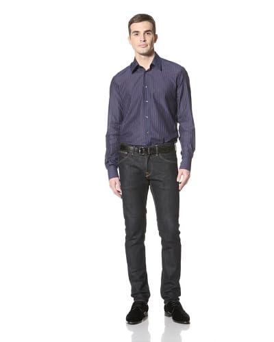 Versace Collection Men's Stripe Shirt  [Blue]