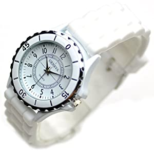 Classic Silicone Women Watch Gifts Stylish White Fashion Lady Brand Watch for Girl L202-y