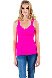 Seamless Laced Camisole in Hot Pink