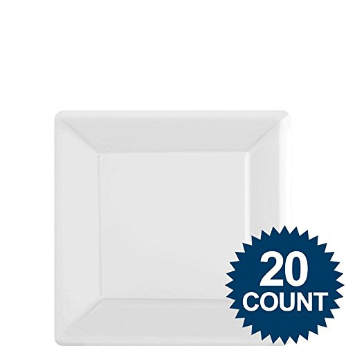 White Party Supplies Square Dessert Paper Plates 20ct