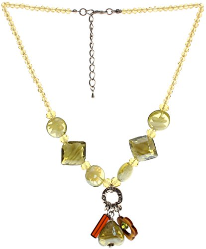 "Lova Jewelry ""Bloomin Olive"" Hand-Blown Venetian Murano Glass Necklace"