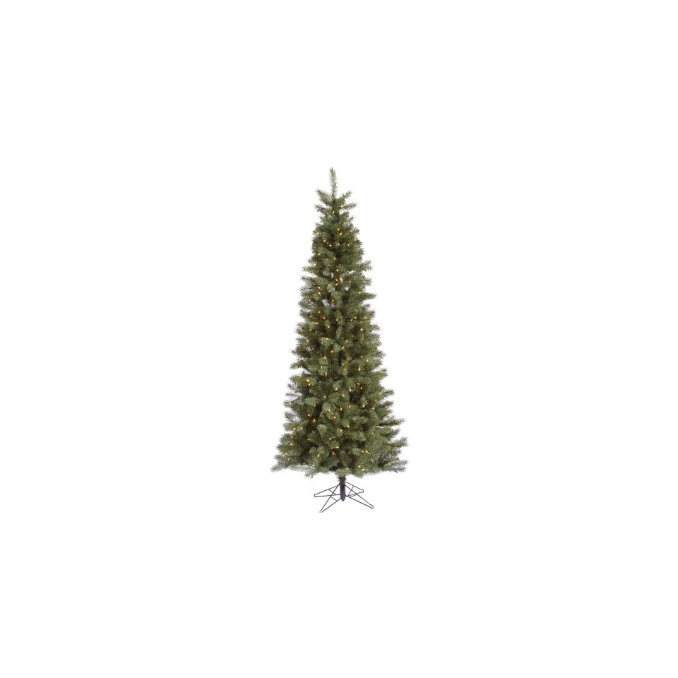 Vickerman 21894   9.5 x 46 Blue Albany Spruce Slim 650 Clear Lights Christmas Tree (A114486)