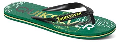 Quiksilver Quiksilver Herren Molokai Nitro Flip Flops - Sandali a Punta Aperta Uomo, Nero (Black/Green/Green XKGG), 42 EU