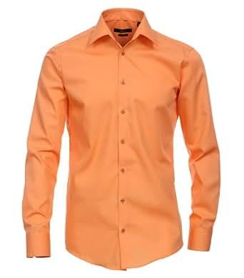 VENTI Hemd Tailliert Langarm Orange Kent Kragen Normaler Office Arm 65er 37