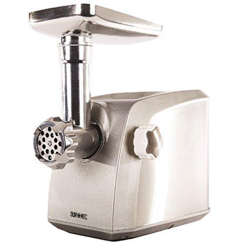 Duronic MG1600 hachoir à viande / machine à saucisse et boulette de viande en acier inoxydable 1600W